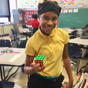 Rubik's Cube Challenge Accepted by Carylwood 6th grade student.