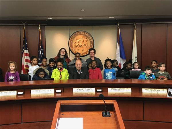 Third Graders Visit the Bedford Mayor