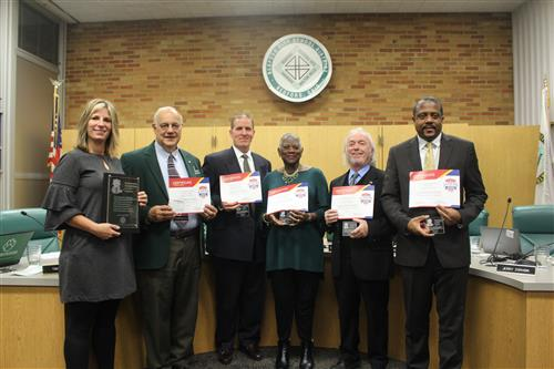 2019 Board of Education receives plaques for Board Recognition Month