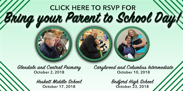 RSVP online for Bring you Parent to School day