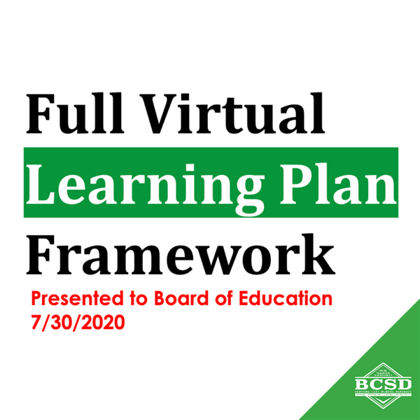 Fall Reopening Decision // Full Virtual Learning Plan Framework