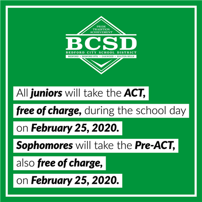 ACT // Pre-ACT on February 25, 2019.