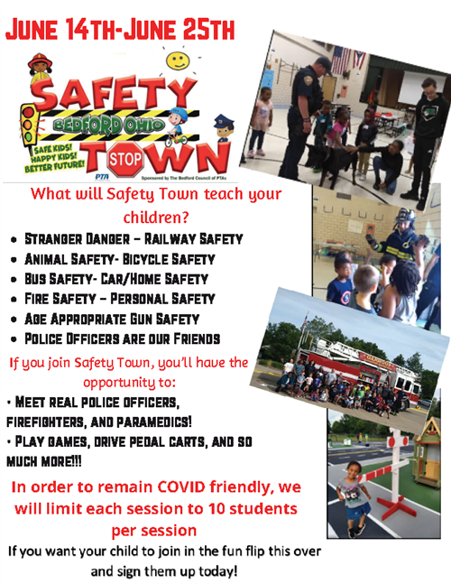 Safety Town Info