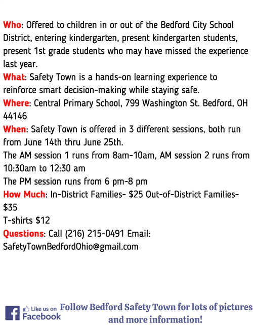 Safety Town Info, page 2