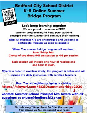 K-6 Online Summer Bridge Program