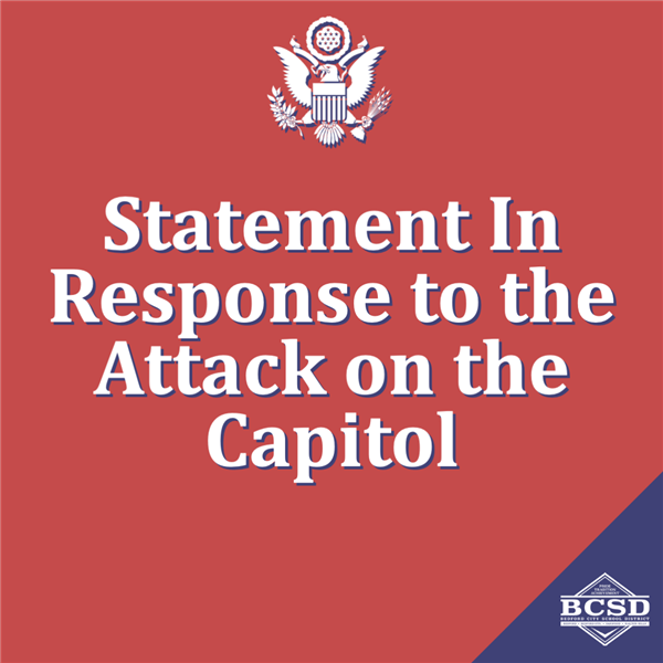 Statement from Superintendent Andrea Celico In Response to the Attack on the Capitol