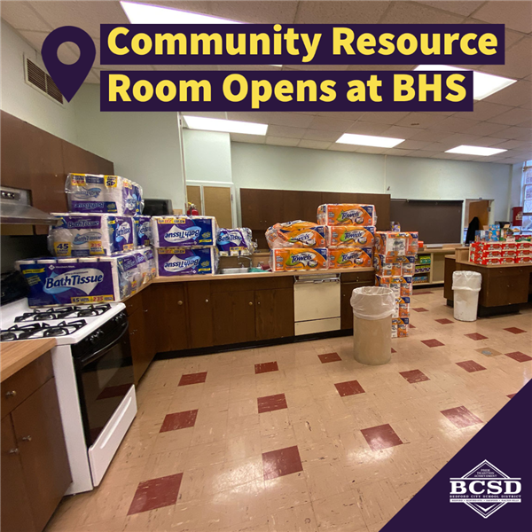 Community Resource Room Opens at BHS
