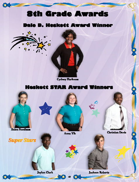 Heskett Middle School Honors Top Academic Achievers