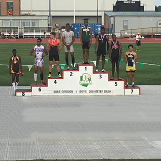 BHS Senior Keshun Jones wins the Gold at State Championship Track Meet