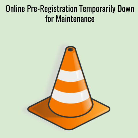 Registration Gateway is down for maintenance