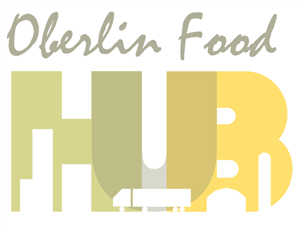 Oberlin Food Hub logo, provides food for our students.