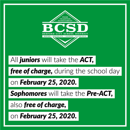 ACT // Pre-ACT on Feb. 25, 2019